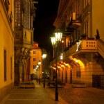Empty night Prague street — Stock Photo