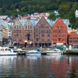 Cityscape of Bergen, Norway — Stock Photo #4385332