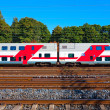 Passenger train in Finland — Stock Photo