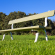 Stock Photo: Wooden bench in the park