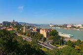 Summer panorama of Budapest, Hungary — Stock Photo