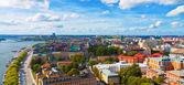 Panorama aereo di Stoccolma, Svezia — Foto Stock