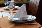 Setting of restaurant table — Stock Photo