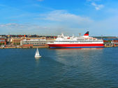 Cruise liner in port of Helsinki, Finland — Stock Photo