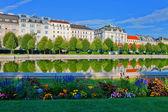 Belvedere garden in Vienna, Austria — Zdjęcie stockowe