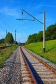 夏の線路 — ストック写真
