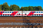 Passenger train in Finland — Stock Photo