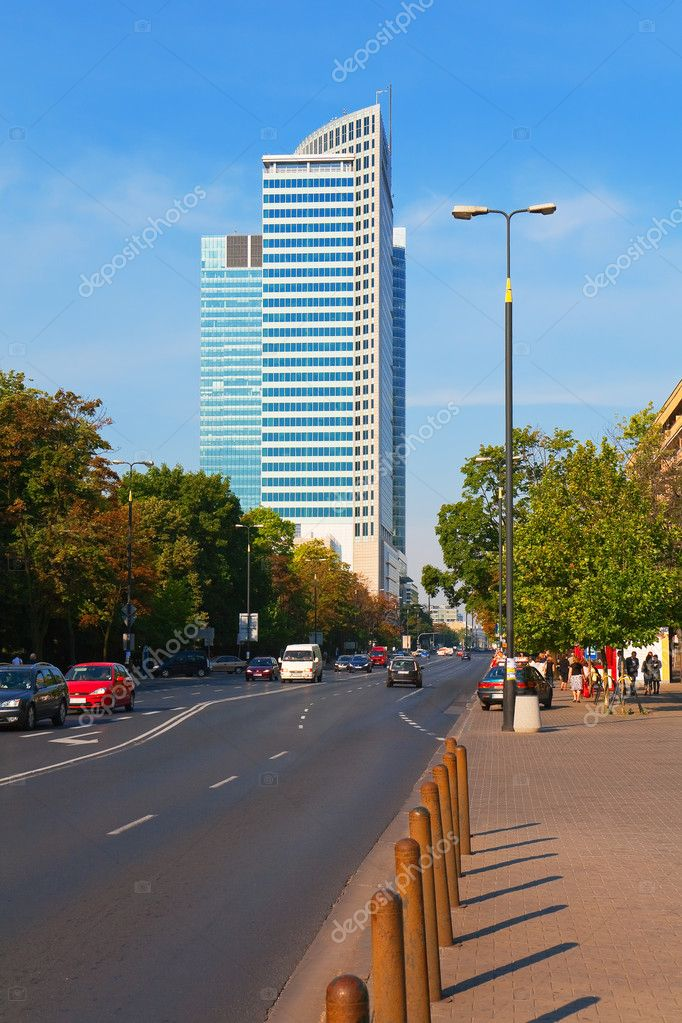 Business district in Warsaw, Poland  Stock Photo #4385046