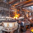 Open-hearth shop of metallurgical plant — Stock Photo