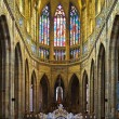 St. Vitus cathedral interior in Prague — Stock Photo #4424776