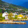 Mountain village in Norway — Stock Photo