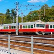 Foto de Stock  : Passenger trains in Finland