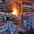 Stock Photo: Open-hearth workshop of metallurgical plant