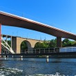 Railway bridges in Stockholm, Sweden - Stock Photo
