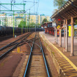 Railroad station in Karlsbad, Sweden - Stock Photo