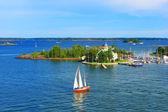 Baltic sea in Helsinki, Finland — Stock Photo