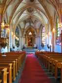 Catholic church interior — Stock Photo