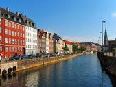 Canal em Copenhaga, Dinamarca — Fotografia Stock