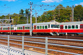 Passenger trains in Finland — Stock Photo
