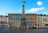 The Market Square in Helsinki, Finland — Stock Photo