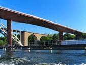 Railway bridges in Stockholm, Sweden — Stock Photo
