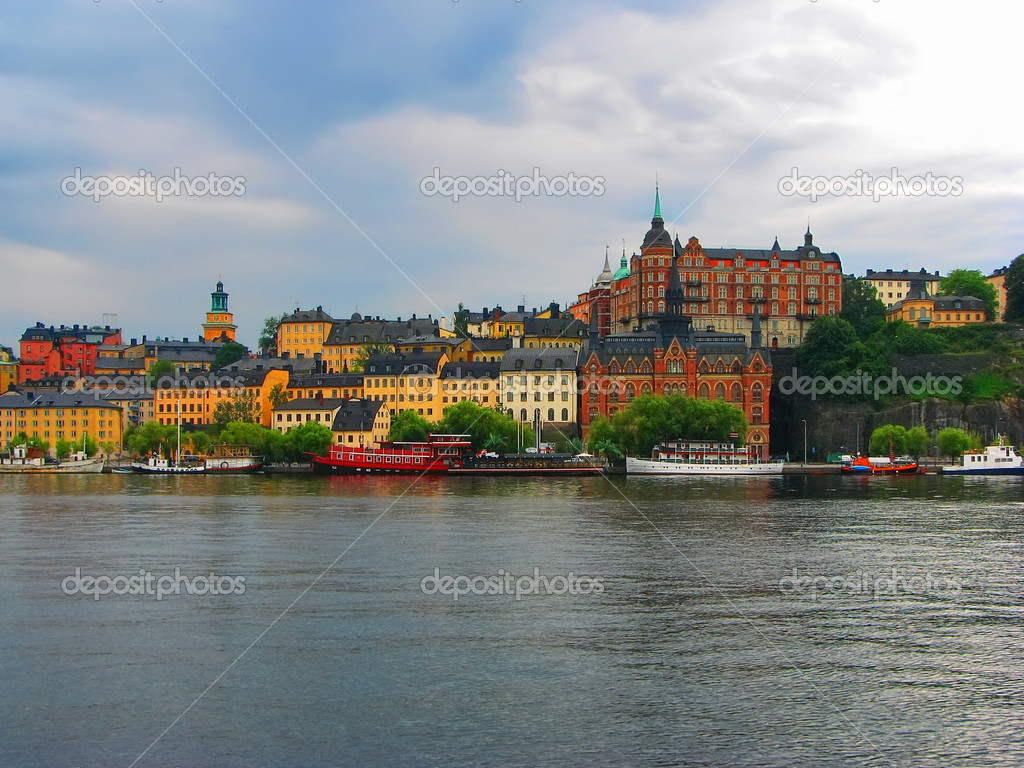 Overcast Stockholm — Stock Photo #4426981