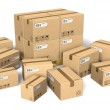 Set of different cardboard boxes — Stock Photo #4436210