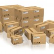 Set of different cardboard boxes — Stock Photo #4436223