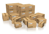 Set of different cardboard boxes — Stock Photo