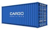 Blue cargo container — Stock Photo