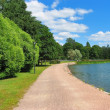 Park with lake — Stock Photo
