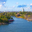 Suomenlinna fortress in Helsinki, Finland - Stock Photo