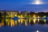 Evening cityscape of Helsinki, Finland — Stock Photo