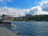Sunny day in Stockholm — Stock Photo
