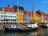 Kopenhaga, nyhavn — Zdjęcie stockowe