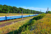 Summer railroad landscape — Stock Photo