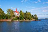 İskandinavya adada yazlık — Stok fotoğraf