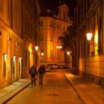 Night street in Prague — Stock Photo