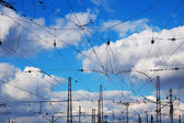 Railroad catenary — Stock Photo