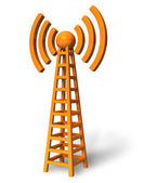 Wireless communication tower — Stock Photo