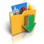 Download folder icon — Stock Photo
