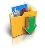 Download folder icon — Stock Photo