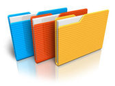 Color folders — Stock Photo