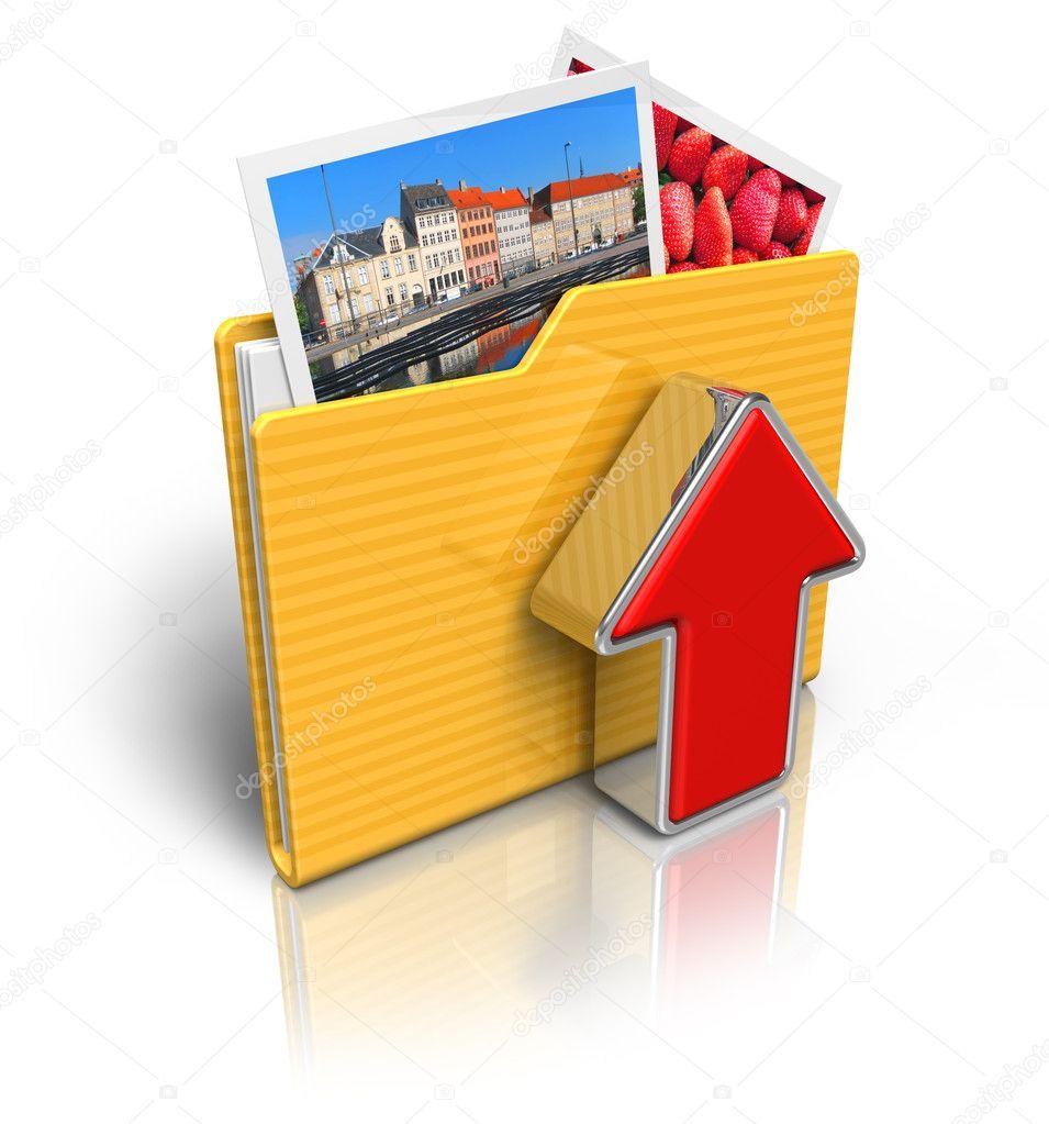 Facebook Upload Photo Icon Upload Folder Icon — Photo by