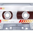 Audio cassette - Stock Vector