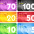 Royalty-Free Stock Imagem Vetorial: Set of discount card templates