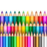 Rainbow pencil background — Stock Vector