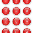 Red phone keyboard — Stock vektor