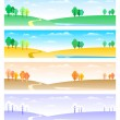 Four seasons — Vector de stock #4541546