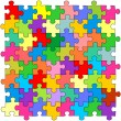 Stock Vector: Seamless color puzzles background